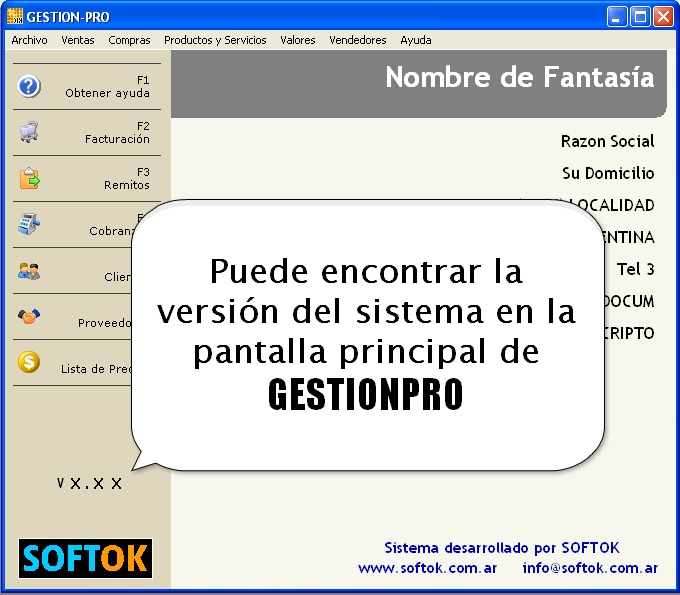 Version GESTIONPRO